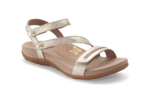 Women's Aetrex Gabby Gold Sandal