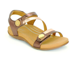 Women's Aetrex Jess Bronze Sandal
