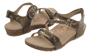 Women's Aetrex Jillian Bronze Sandal