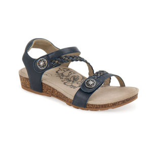 Women's Aetrex Jillian Navy Sandal