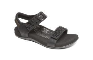 Women's Aetrex Marcy Black Sandal