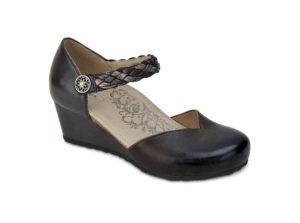 Women's Aetrex Mia Black Wedge Shoe