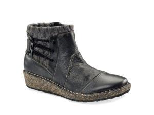 Women's Aetrex Tessa Black Shadow Short Boot