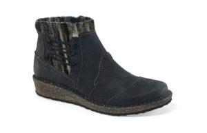 Women's Aetrex Tessa Black Short Boot