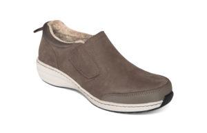 Women's Aetrex Tyra Monk Warm Grey Shoe