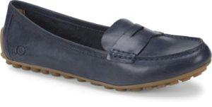 Women's Born Malena Navy Flat Shoe