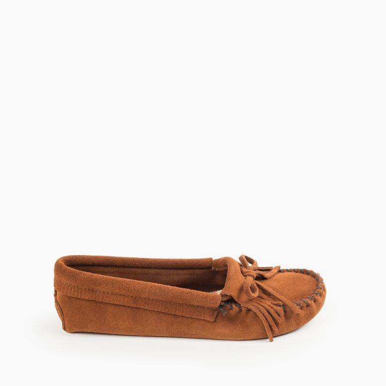 Women's Minnetonka Moccasin 102 Kilty Soft Sole Brown