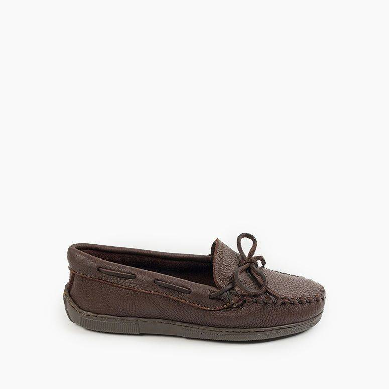 Women's Minnetonka Moccasin 490 Moosehide Classic Chocolate