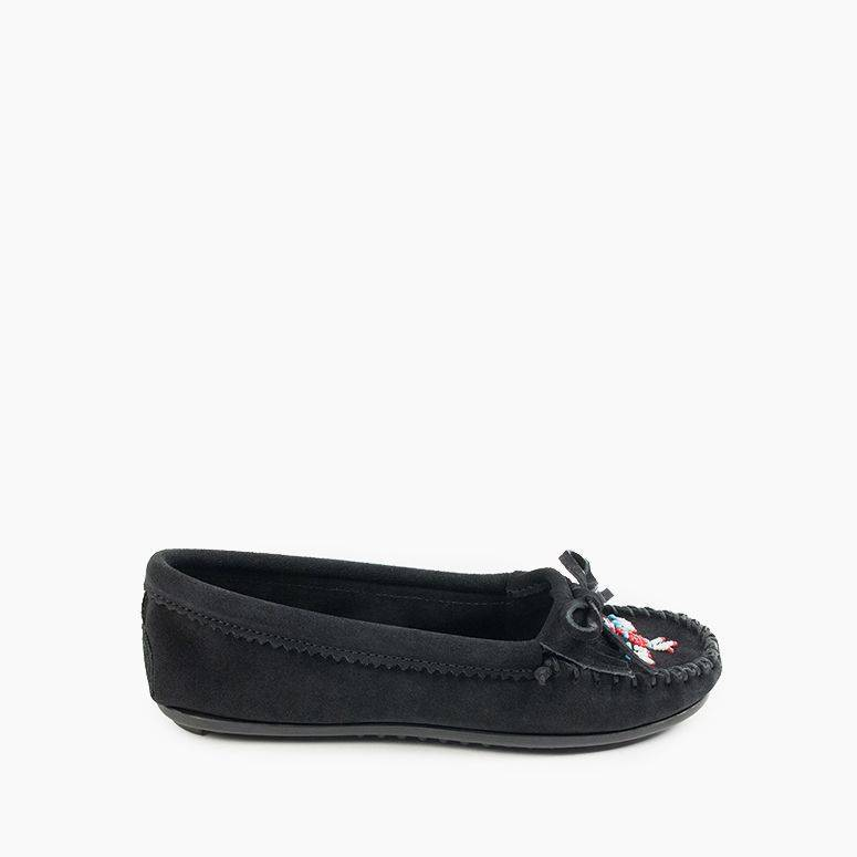 Women's Minnetonka Moccasin 607T Black