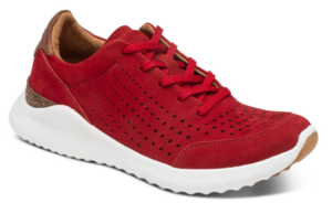 Aetrex Laura Lace up Red